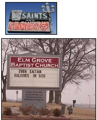 """Short Christian Jokes Unusual Church Sign - """"Toot'n Tell or Go to Hell"""""""