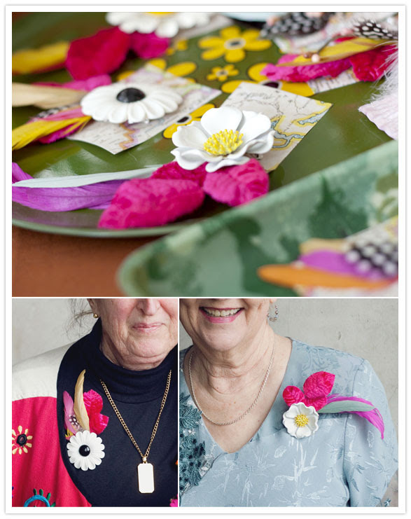 A Beautiful Mess wedding corsages