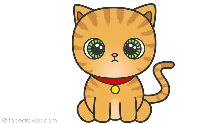 Cute Cat Cartoon Drawing Drawing Ideas Collection
