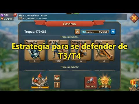Tec World K: 🎮 Estratégia para se defender de T3/T4 - Lords mobile