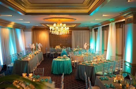 turquoise and silver wedding table decorations   Google