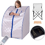 Gymax Portable Far Infrared Sauna Spa Full Body Detox Therapy