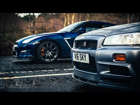 ROMBI DI GLORIA R34 Nissan Skyline GT R Vs R35 The Ultimate Godzilla Review
