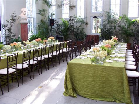 Wedding reception in the Piper Palm House greenhouse in