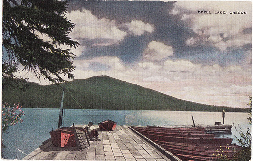 lake odell, oregon postcard