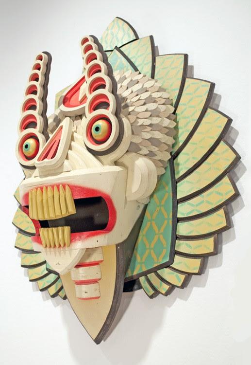 masque aj fossik 02 517x750 Les monstres en relief dAJ Fosik  art
