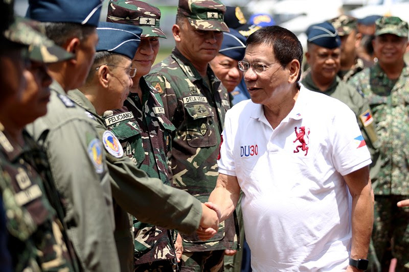 Image result for DUTERTE AND MILITARY PICTURES