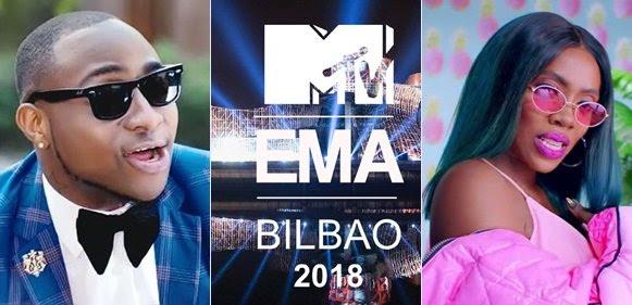Image result for Davido,Tiwa savage among African Artistes shortlisted for MTV EMA