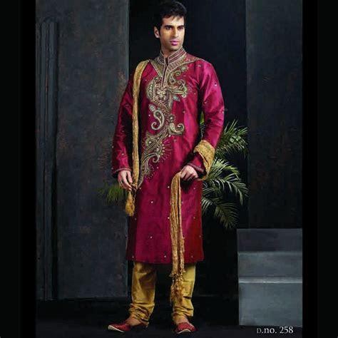 Designer Trendy Indian Wedding Kurta With Churidar   Groom