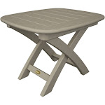 Trex Outdoor Furniture Recycled Plastic Yacht Club Side Table Sand Castle