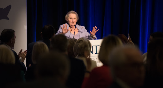Madeleine K. Albright Makes Stirring Call To Action at NDI's Annual Luncheon: Violence is #NotTheCost for Women in Politics