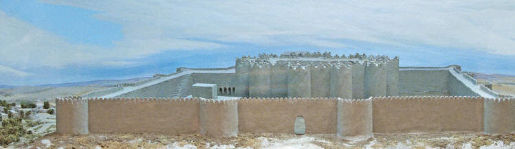 Reconstruction of the Gonur south fortifications at National Museum of Turkmenistan