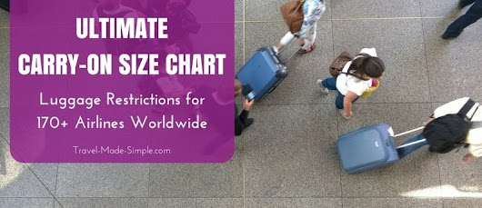 Carry-On Size Chart: 170+ Airlines - Travel Made Simple