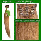 Pro-extensions Prst-20-27 #27 Golden Blonde - 20 inch