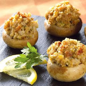 Shrimp and Sausage Stuffed Mushrooms