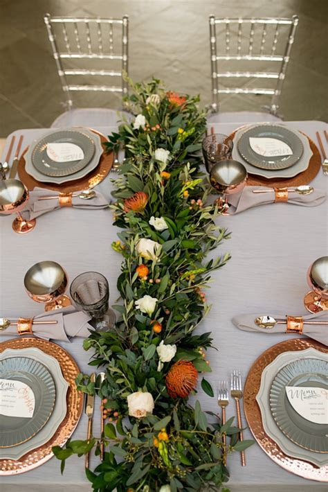 Modern Elegant Grey & Copper Wedding Ideas   Every Last Detail