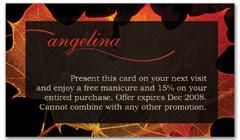 CPS-1058 - salon coupon card