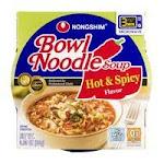 Nongshim Noodle Soup, Bowl, Hot & Spicy Flavor - 3.03 oz