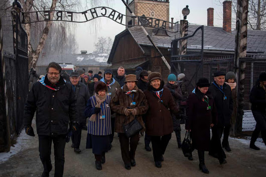 Opening of UN files on Holocaust will 'rewrite chapters of history' | Survivors walk in the former Nazi German concentration and extermination camp Auschwitz-Birkenau Survivors visit the former Auschwitz-Birkenau camp in Poland on the anniversary of its liberation. Photograph: Kuba Ociepa/Agencja Gazeta/Reuters Shares 24,643 Owen Bowcott Legal affairs correspondent @owenbowcott Monday 17 April 2017 19.01 EDT
