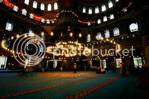 Inside the Eminonu New Mosque