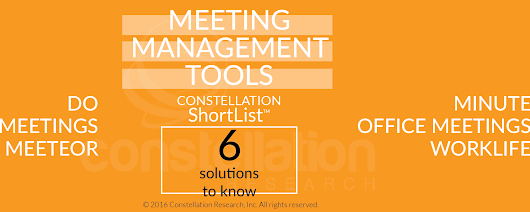 Constellation ShortList™ Meeting Management Tools | Constellation Research Inc.