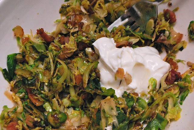 brussels sprouts hash with bacon