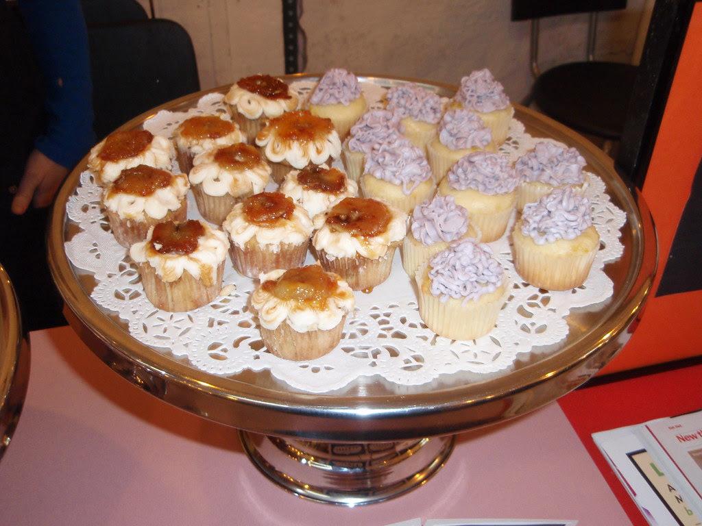 Banana creme and lavendar cupcakes from Kumquat Cupcakery