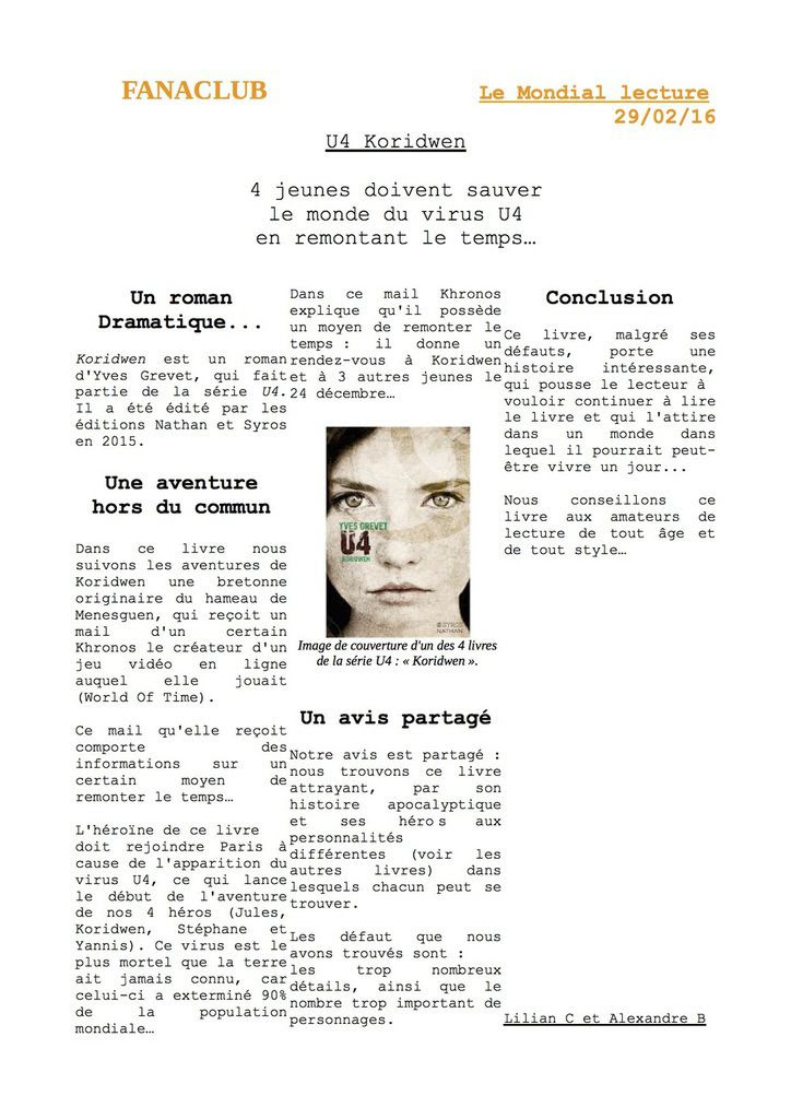 Exemple De Critique Littéraire Dans Un Journal - Le ...