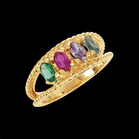 6 Stones Mothers Rings   Handcrafted Gifts and Family Jewelry