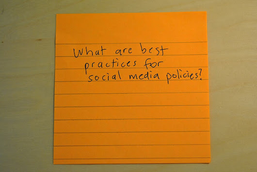 21 Must Haves in Your Social Media Policy