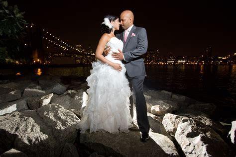 Brooklyn Bridge Park Wedding Photography Night Session