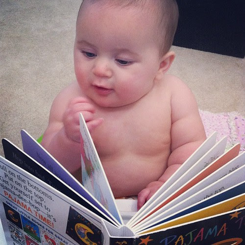Just kickin' back with a good read.