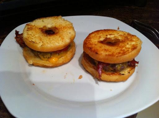 hamburguesas con donut