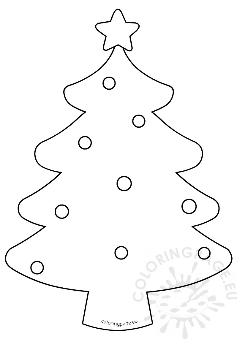 Blank Christmas Tree Coloring Page for kids - Coloring Page