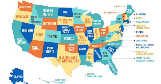 This Map Shows What People Hate The Most In Each State
