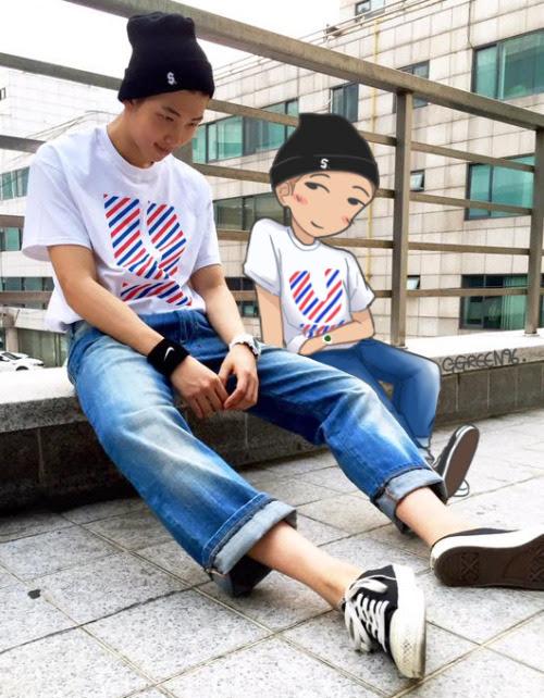 Chibi Fanart Bts Bangtan Bangtan Boys Rapmon Rapmonster Bts Fanart Little Rm Ggreen96