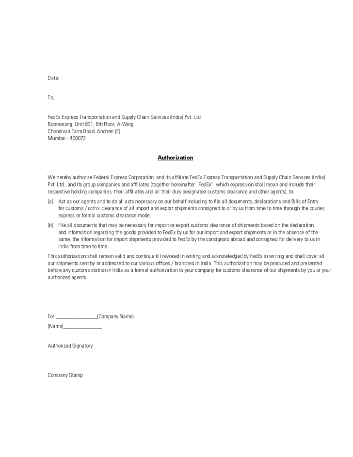 agent authorization letter sample l1