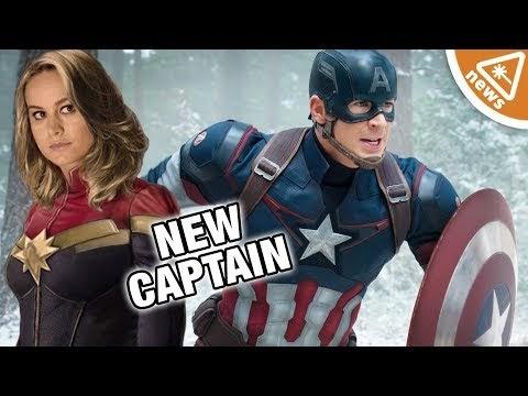 Will Captain Marvel Be the New Captain America? (Nerdist News w/ Jessica Chobot)  #marvel  #mcu