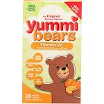 Yummi Bears Vitamin D3, 600 IU, Gummy Bears - 60 count -PACK 2