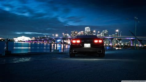 Chevrolet Camaro, City Night 4K HD Desktop Wallpaper for 4K Ultra HD TV ? Wide & Ultra