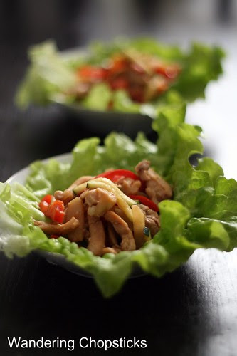 Chinese Lettuce Wraps with Chicken, Water Chestnuts, and Bell Peppers 11