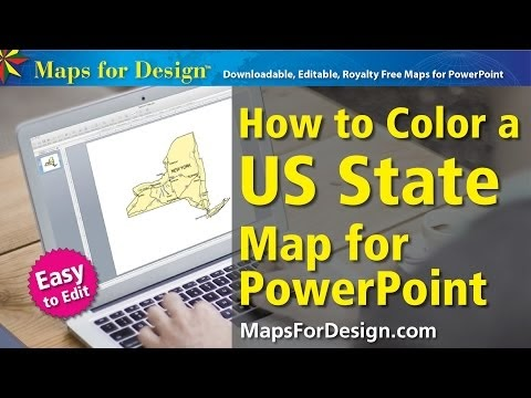 Maps For Design Editable Clip Art PowerPoint Maps US State And - Us state map editable color