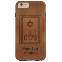 Carved Wood Shalom Tough iPhone 6 Plus Case