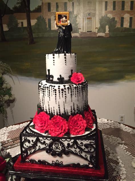 Custom Gothic Wedding Cake Topper by erin tinney