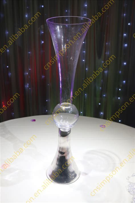 Wholesale Wedding Glass Vase Centerpieces,Clear Reversible
