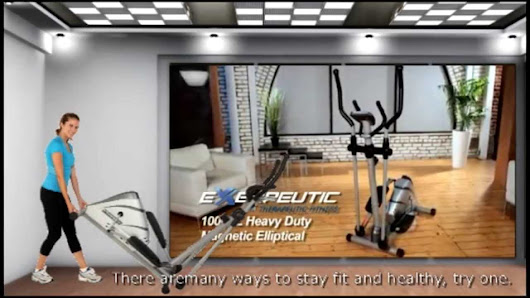Exerpeutic 1000XI Heavy Duty Magnetic Ellipticals with Pulse