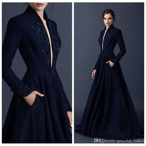 Discount Navy Blue Beaded Wedding Dresses Embrodiery Paolo