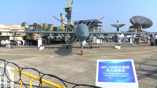 The CH-5 unmanned aerial vehicle, China's largest combat drone, made its first flight last year and appears to be based on the US MQ-9 reaper