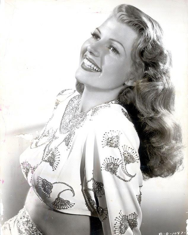 Rosto famoso: Rita Hayworth foi casado cinco vezes, e tem apenas dois filhos, o mais jovem dos quais era a mãe de Andrew Emiricos '
