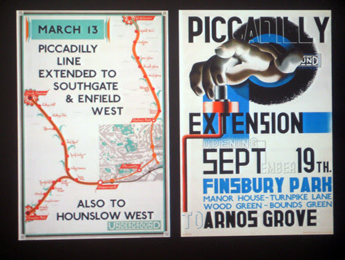 Two ways of advertising Piccadilly Line Extension